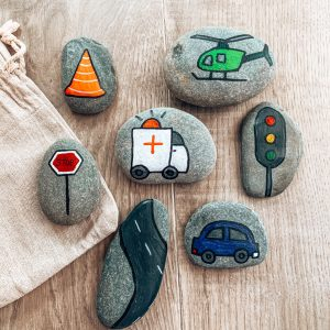 Transport Learning Stones
